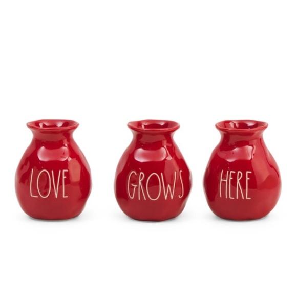 CLEARANCE! Rae Dunn Vase Set Love Grows Here NIB